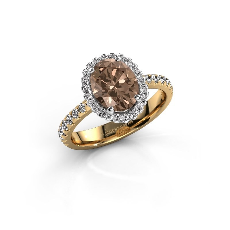 Verlovingsring Lavelle 585 goud bruine diamant 2.292 crt