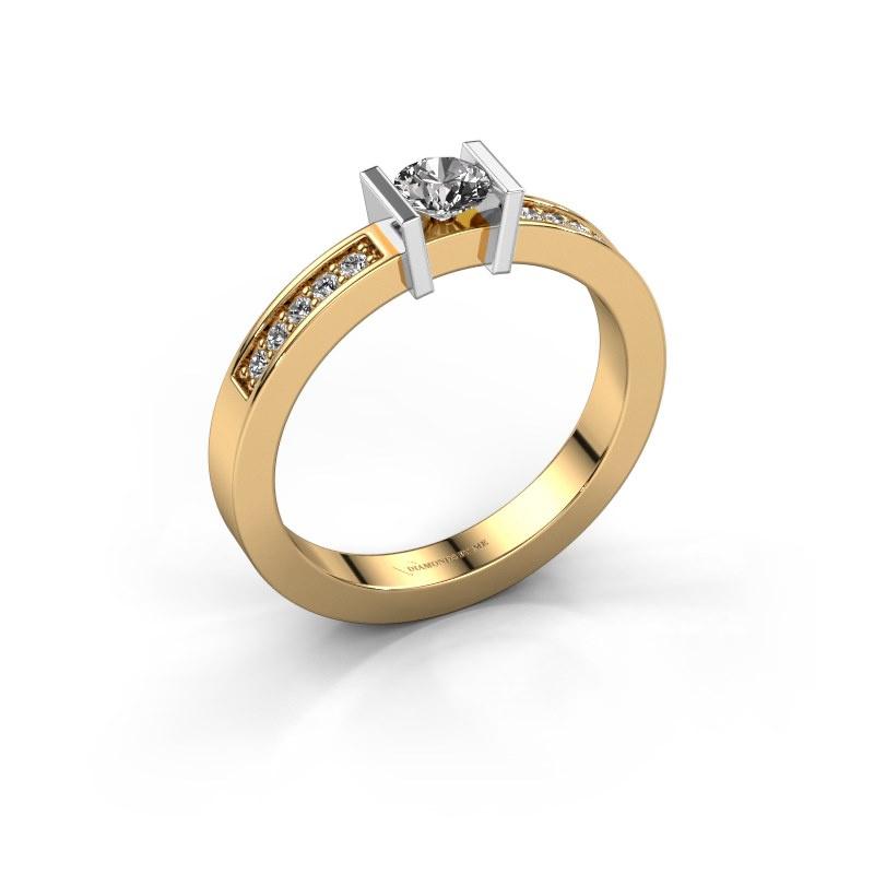 Aanzoeksring Maryam 585 goud diamant 0.40 crt