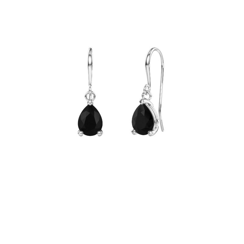 Drop earrings Laurie 1 950 platinum black diamond 1.140 crt