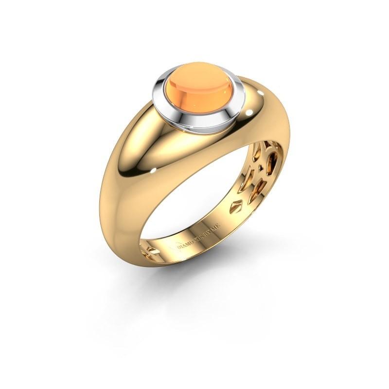 Ring Sharika 585 goud citrien 6 mm