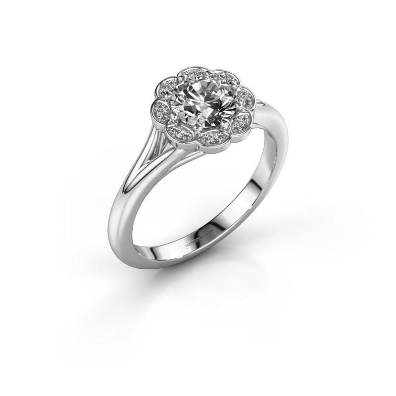 Aanzoeksring Claudine 950 platina diamant 0.84 crt