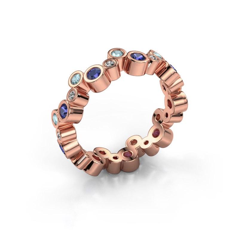 Ring Tessa 585 rosé goud saffier 2.5 mm