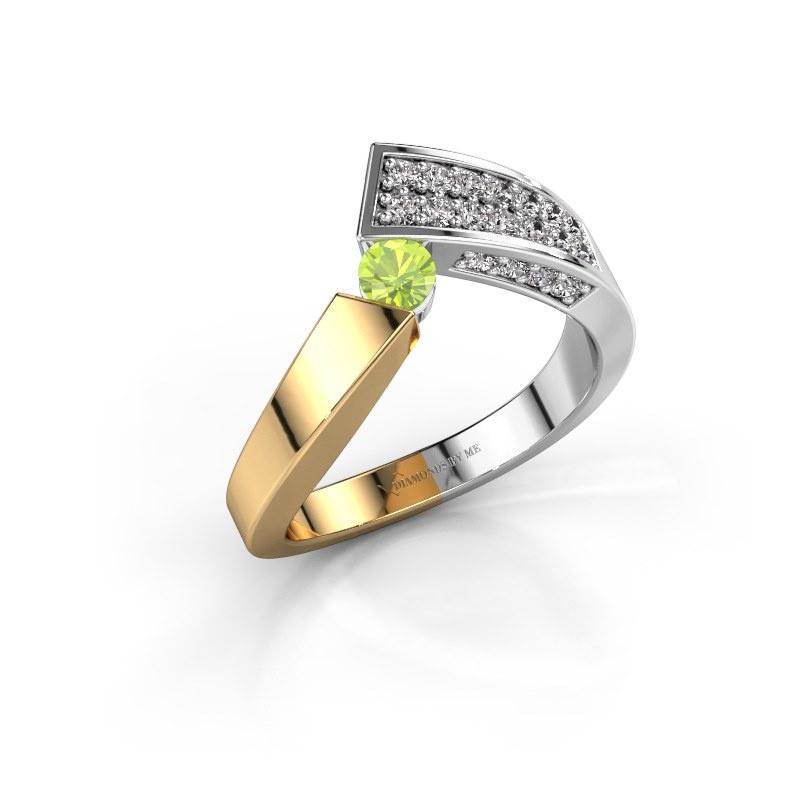 Ring Evie 585 gold peridot 3.4 mm
