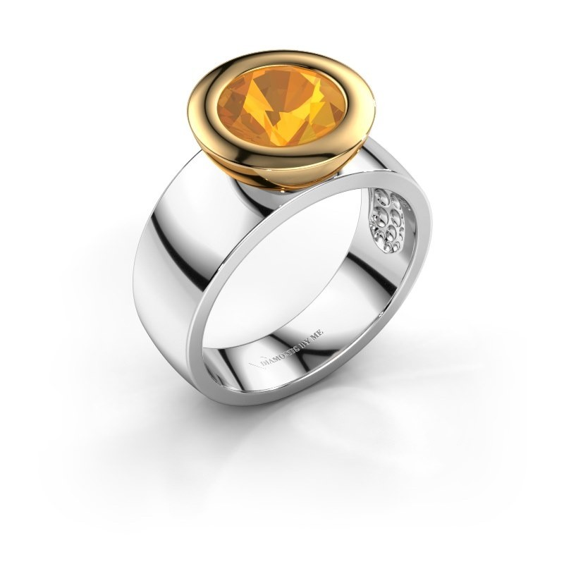 Ring Maxime 585 witgoud citrien 8 mm