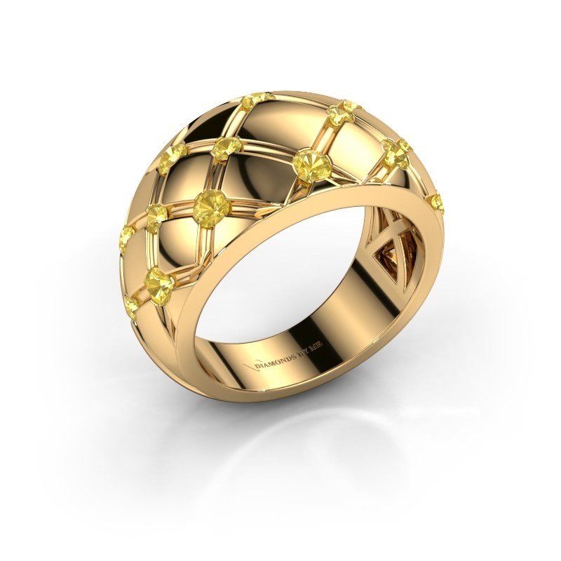 Ring Imke 375 Gold Gelb Saphir 2.5 mm
