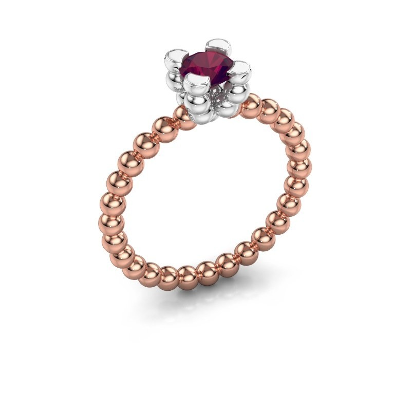 Ring Aurore 585 rosé goud rhodoliet 5 mm