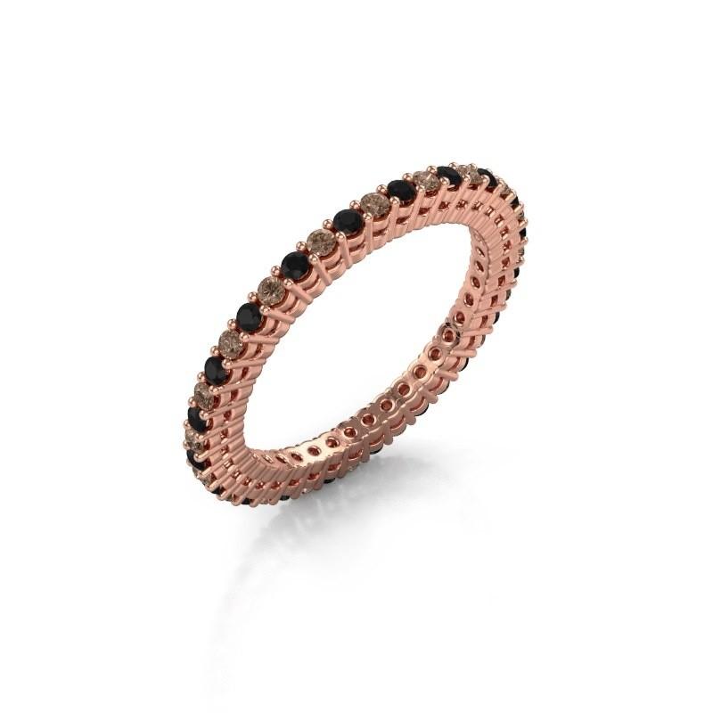 Aanschuifring Rufina 1 375 rosé goud bruine diamant 0.660 crt