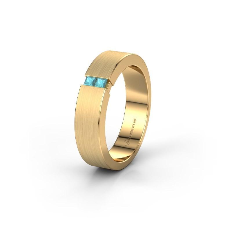 Trouwring WH2136L15E 375 goud blauw topaas ±5x2.6 mm