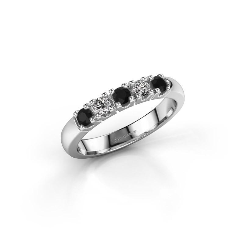 Engagement ring Rianne 5 950 platinum black diamond 0.448 crt