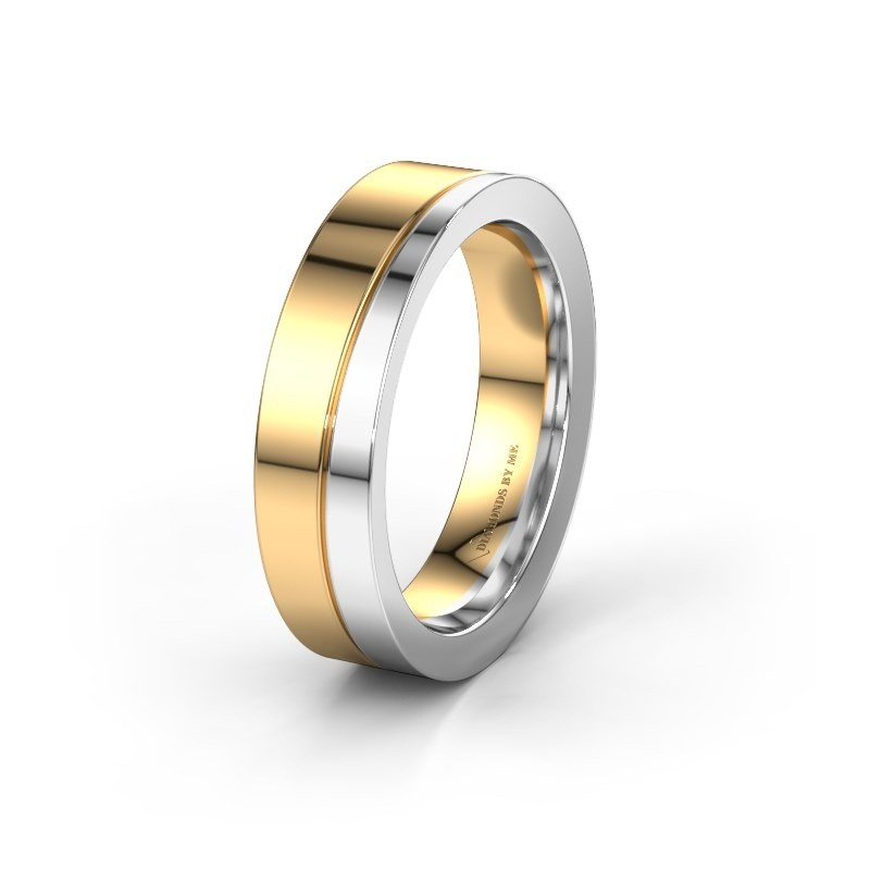 Wedding ring WH1002M15D 585 gold ±0.24x0.09in