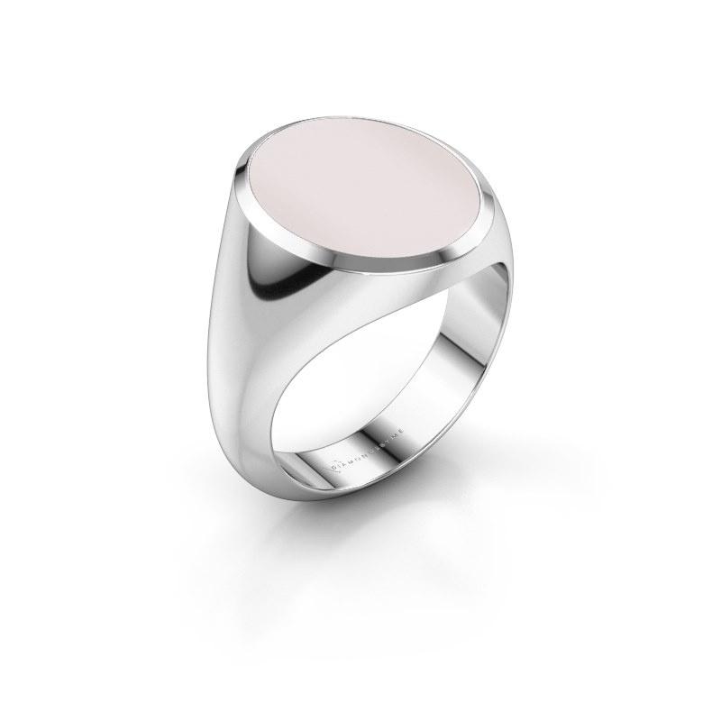 Signet ring Herman 6 375 white gold red sardonyx 16x13 mm