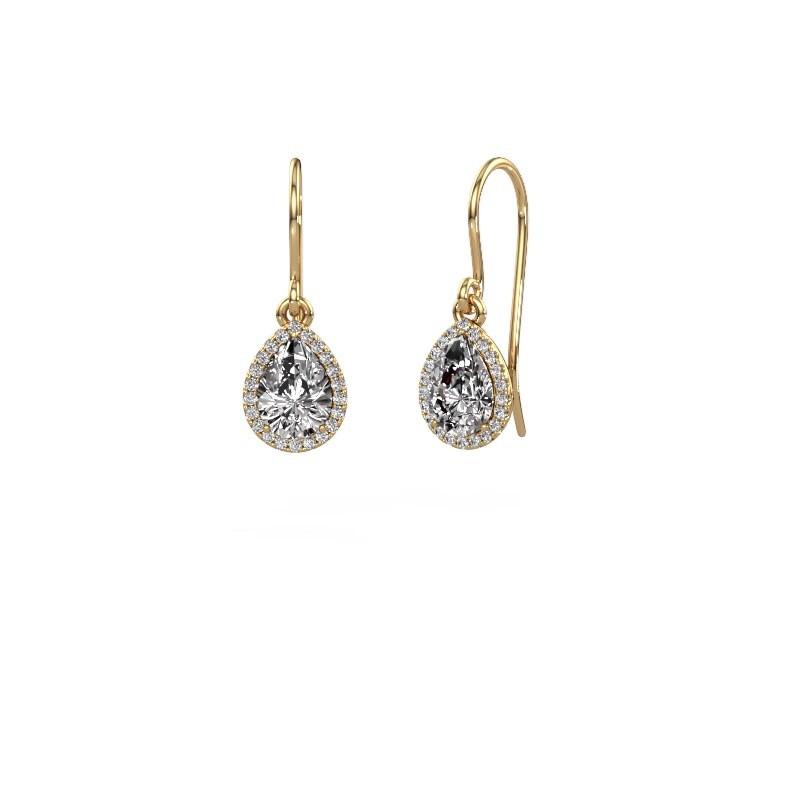 Oorhangers Seline per 585 goud diamant 0.65 crt