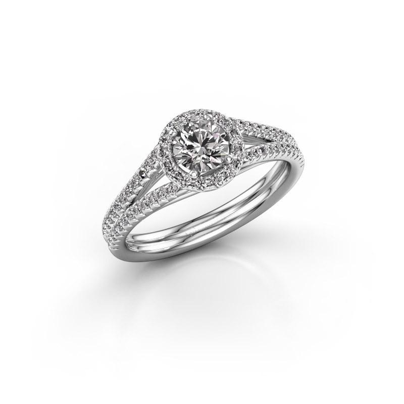 Engagement ring Verla rnd 2 585 white gold diamond 0.745 crt