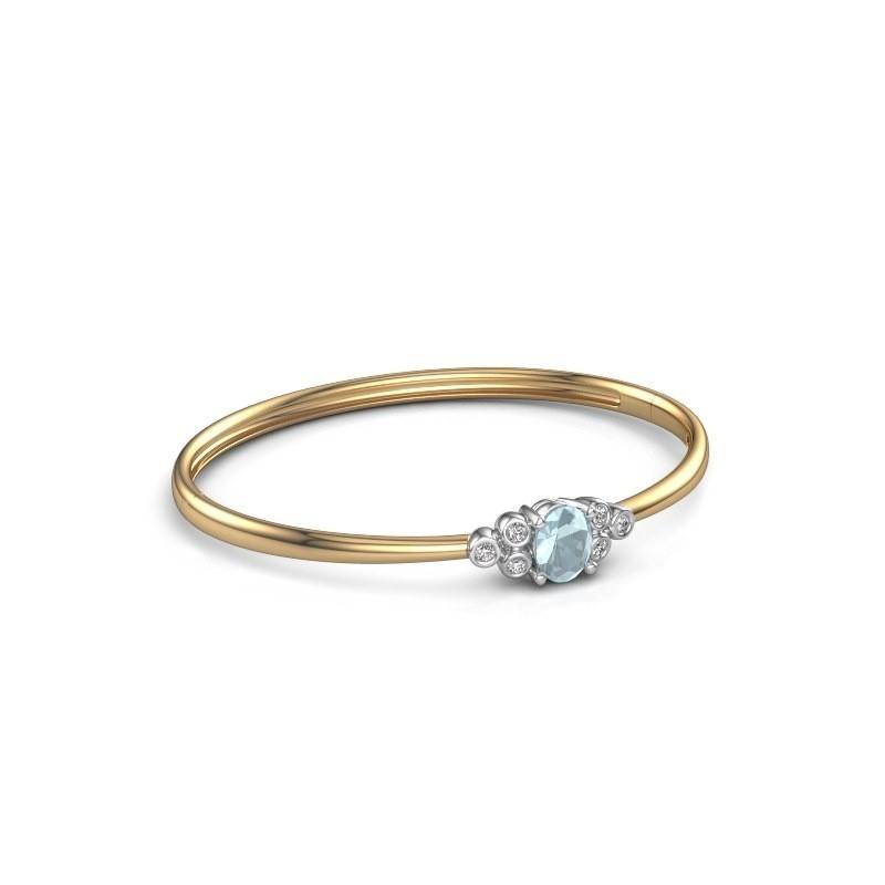 Bangle Lucy 585 gold aquamarine 8x6 mm