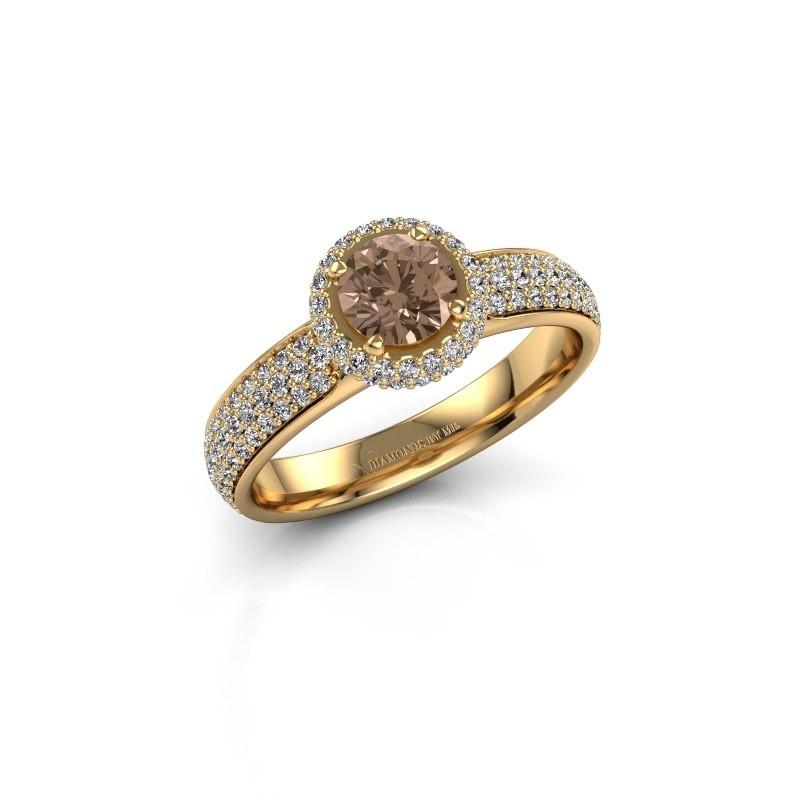 Verlovingsring Mildred 375 goud bruine diamant 1.311 crt