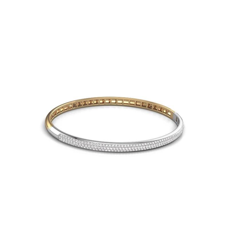 Slavenarmband Emely 4mm 585 goud lab-grown diamant 1.178 crt