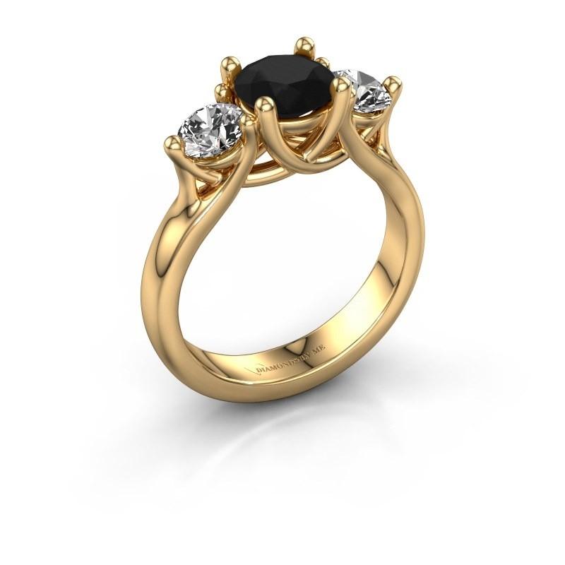 Verlovingsring Esila 375 goud zwarte diamant 2.00 crt