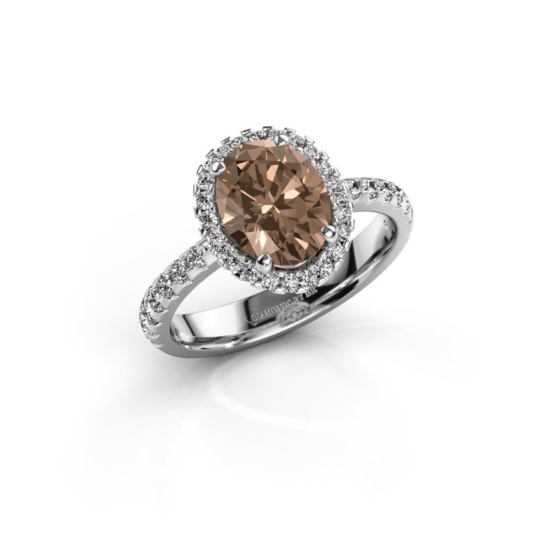 Verlovingsring Lavelle 585 witgoud bruine diamant 2.292 crt