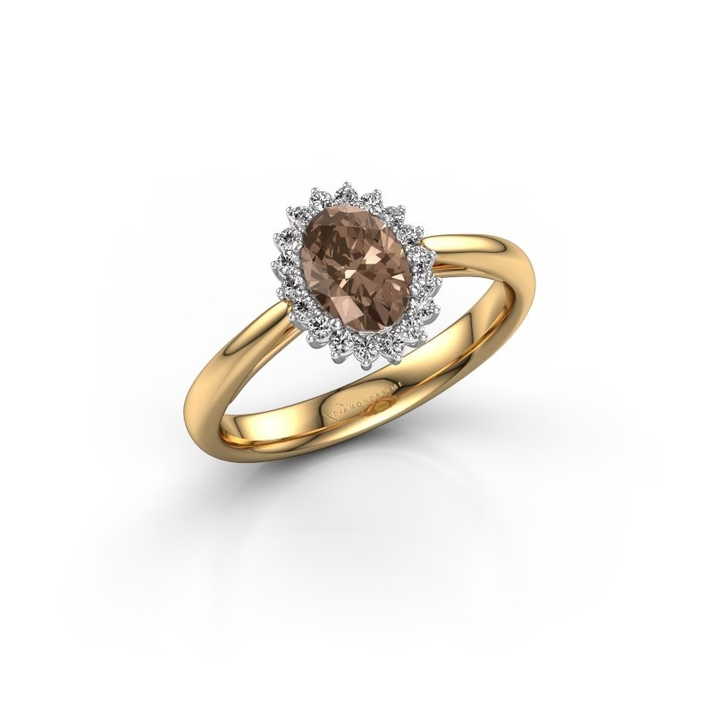 Engagement ring Tilly ovl 1 585 gold brown diamond 0.80 crt