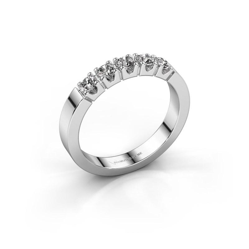 Engagement ring Dana 5 585 white gold zirconia 3 mm