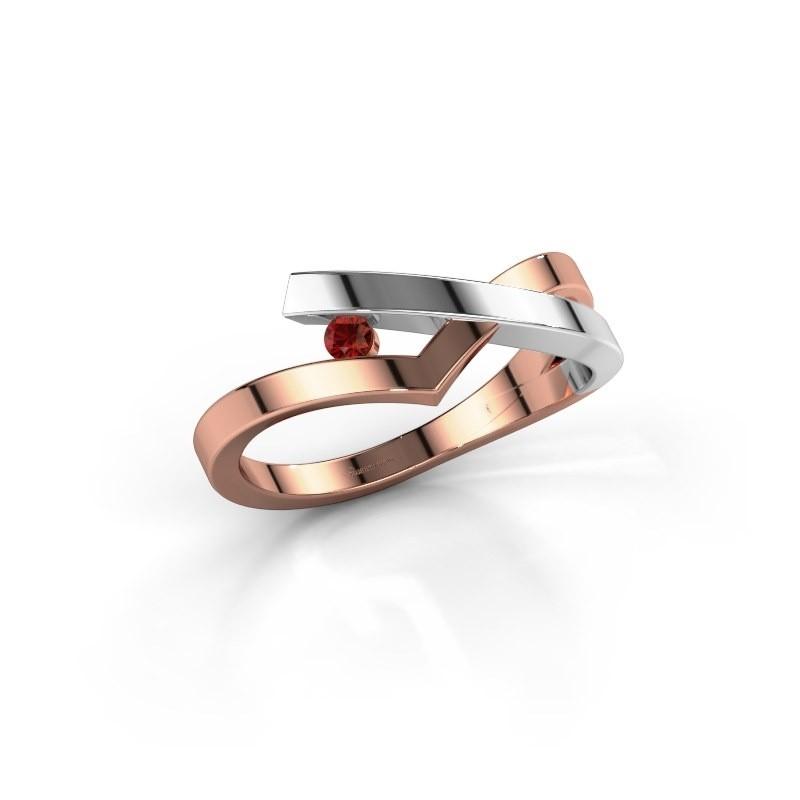 Ring Pamella 585 rose gold garnet 2.2 mm
