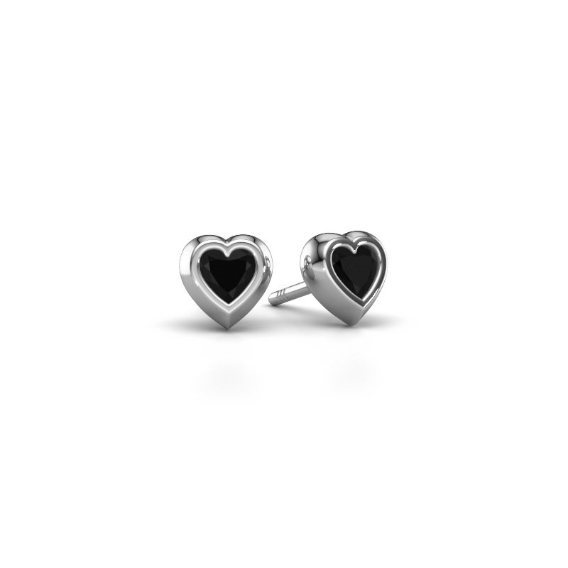Oorknopjes Charlotte 375 witgoud zwarte diamant 0.60 crt