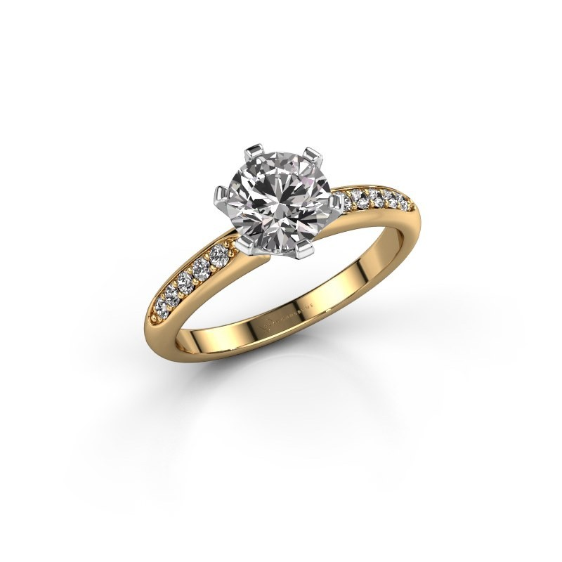 Verlobungsring{ucf Tiffy 2 585 Gold Diamant 1.00 crt