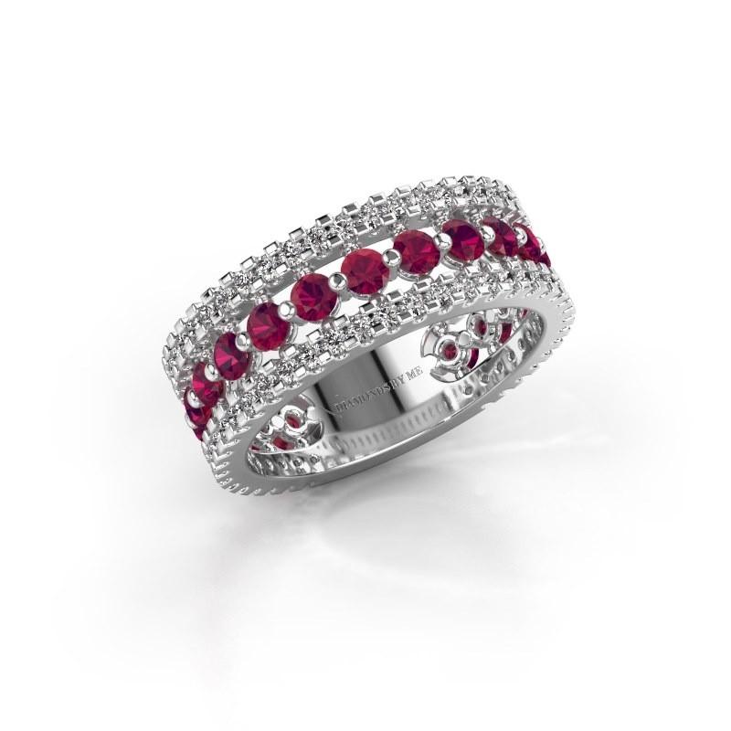 Engagement ring Elizbeth 2 585 white gold rhodolite 2.4 mm