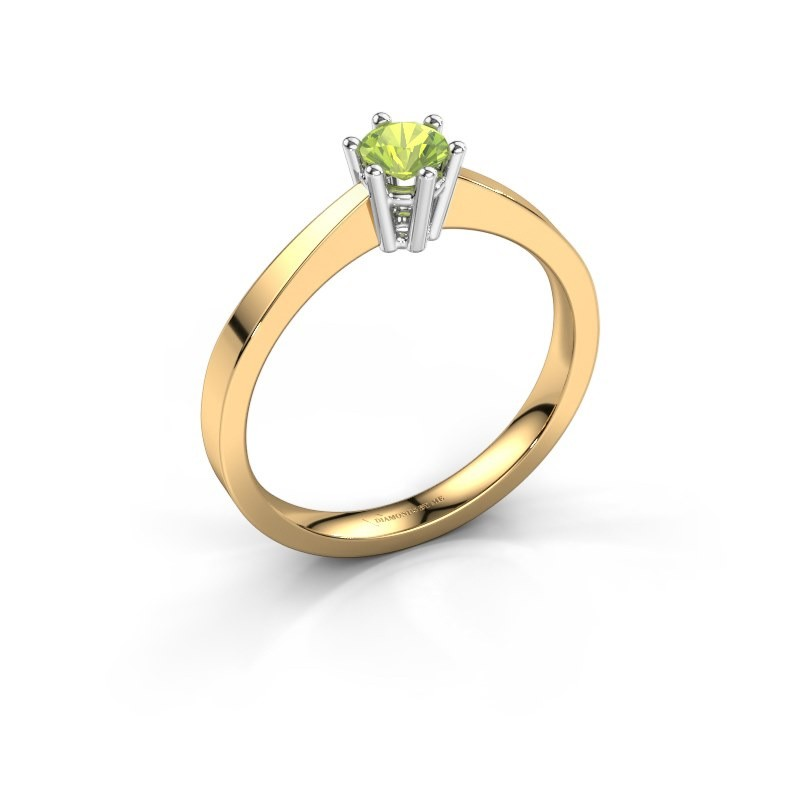 Engagement ring Noortje 585 gold peridot 4 mm