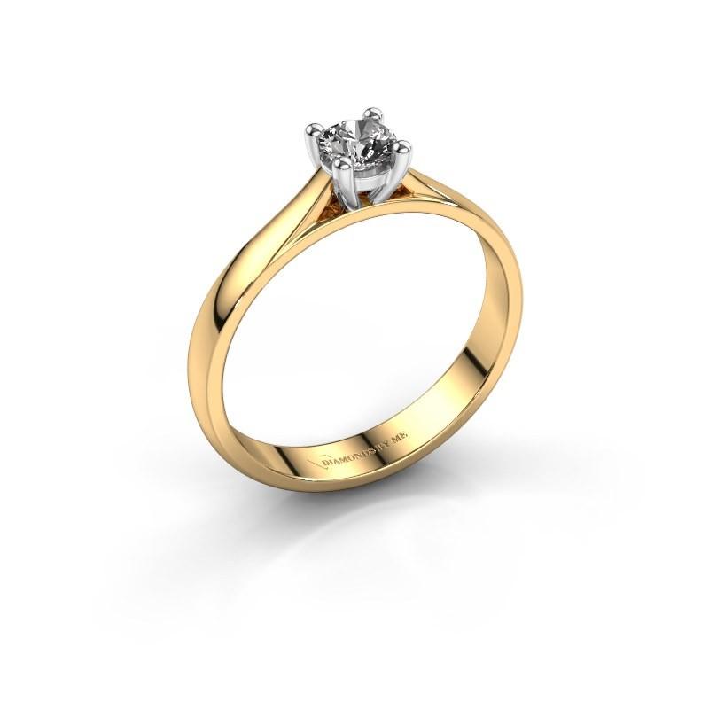 Verlovingsring Sam 585 goud diamant 0.30 crt