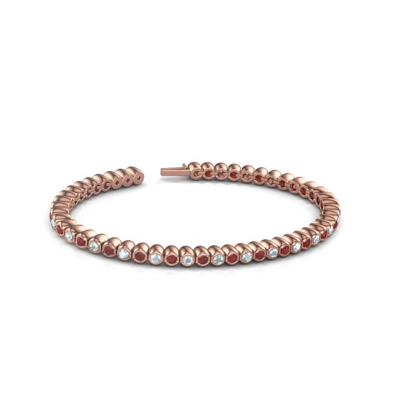 Tennisarmband Patrica 375 rosé goud robijn 2.4 mm