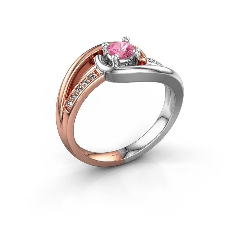 Ring Aylin 585 rose gold pink sapphire 4 mm