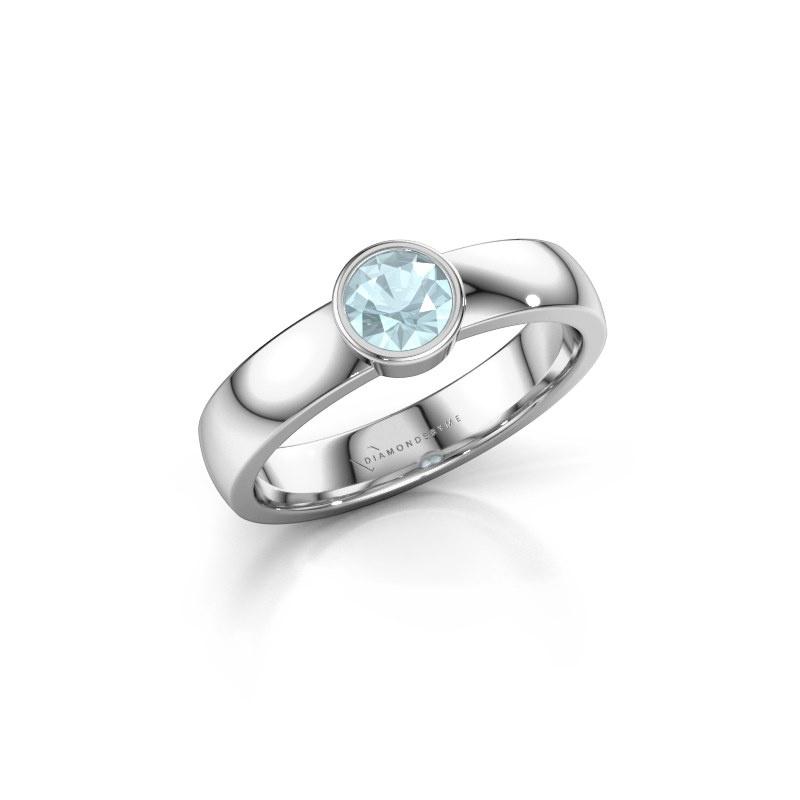Ring Ise 1 585 white gold aquamarine 4.7 mm