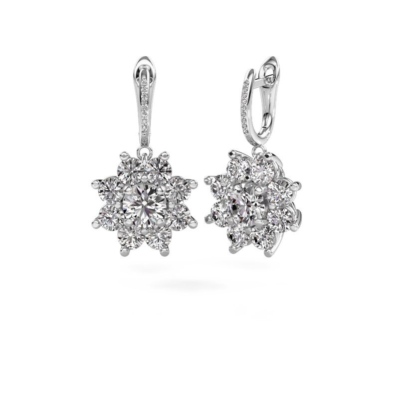 Oorhangers Camille 2 950 platina diamant 6.045 crt