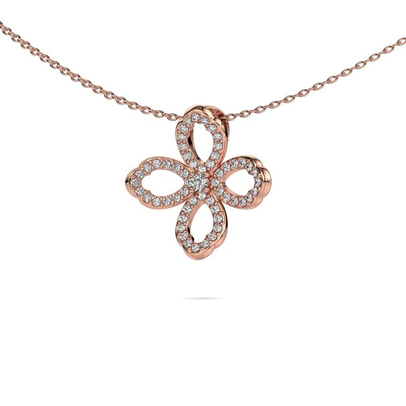 Ketting Chelsea 375 rosé goud lab-grown diamant 0.31 crt