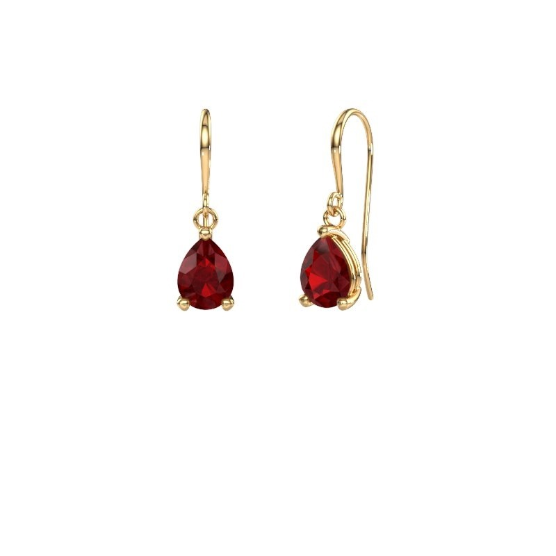 Drop earrings Laurie 1 585 gold ruby 8x6 mm