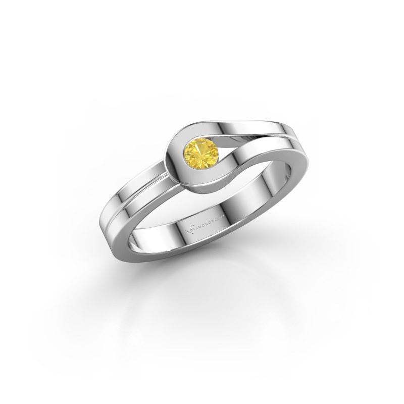 Ring Kiki 925 Silber Gelb Saphir 3 mm