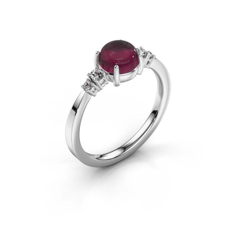 Ring Regine 950 platina rhodoliet 6 mm