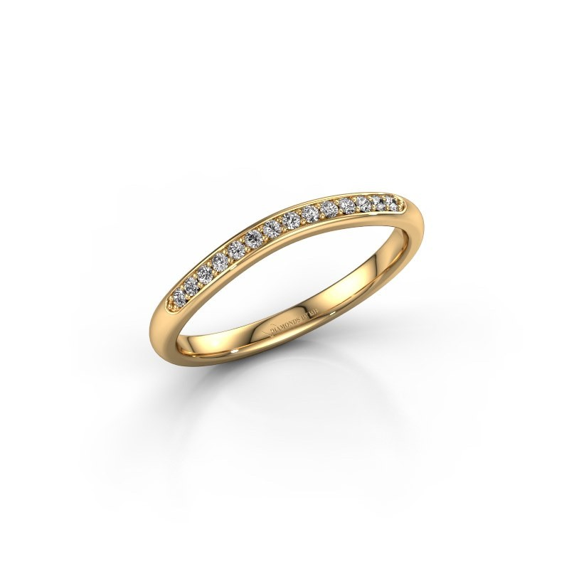 Stackable ring SR20A4H 375 gold diamond 0.113 crt