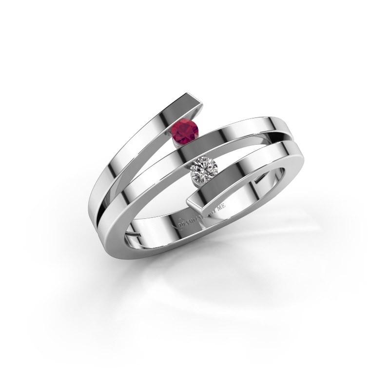 Ring Synthia 950 platina rhodoliet 2.5 mm