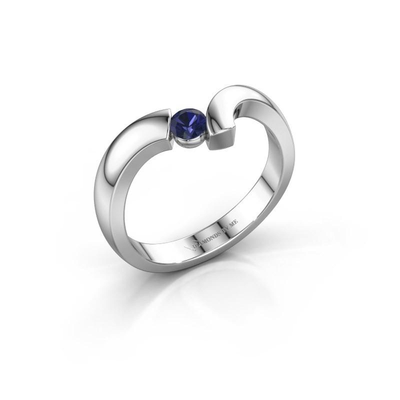 Ring Arda 925 zilver saffier 3.4 mm