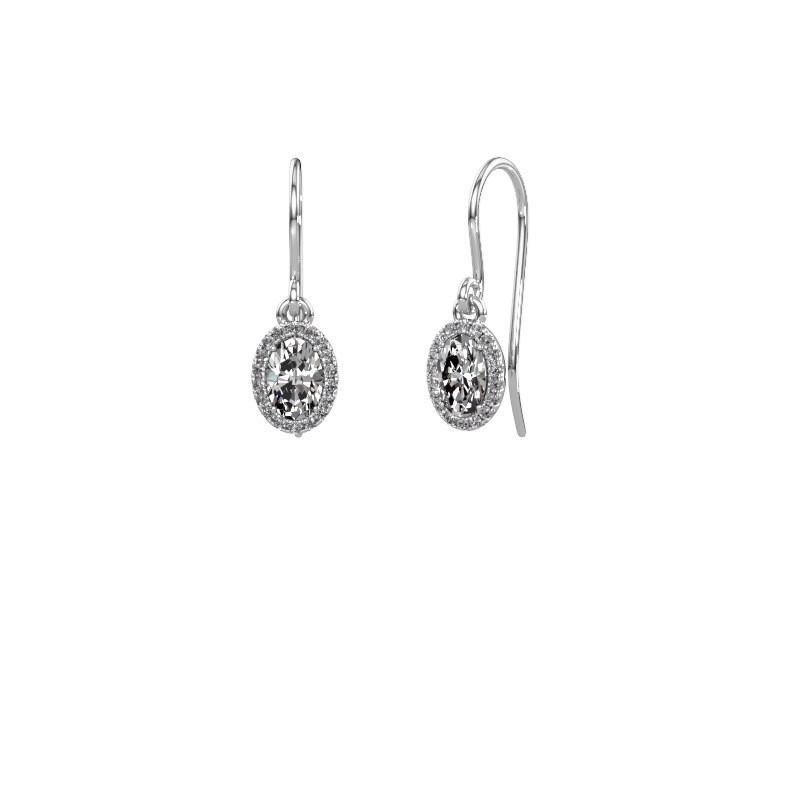 Ohrhänger Seline ovl 585 Weißgold Diamant 1.16 crt