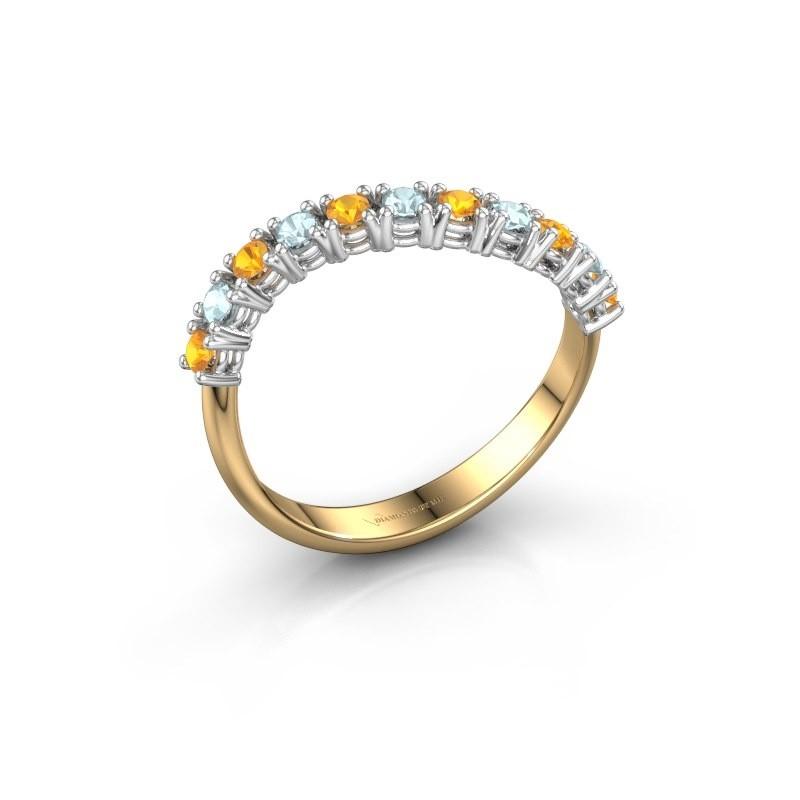 Ring Eliza 585 Gold Citrin 2 mm