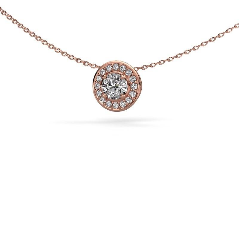 Hanger Agaat 375 rosé goud lab-grown diamant 0.66 crt