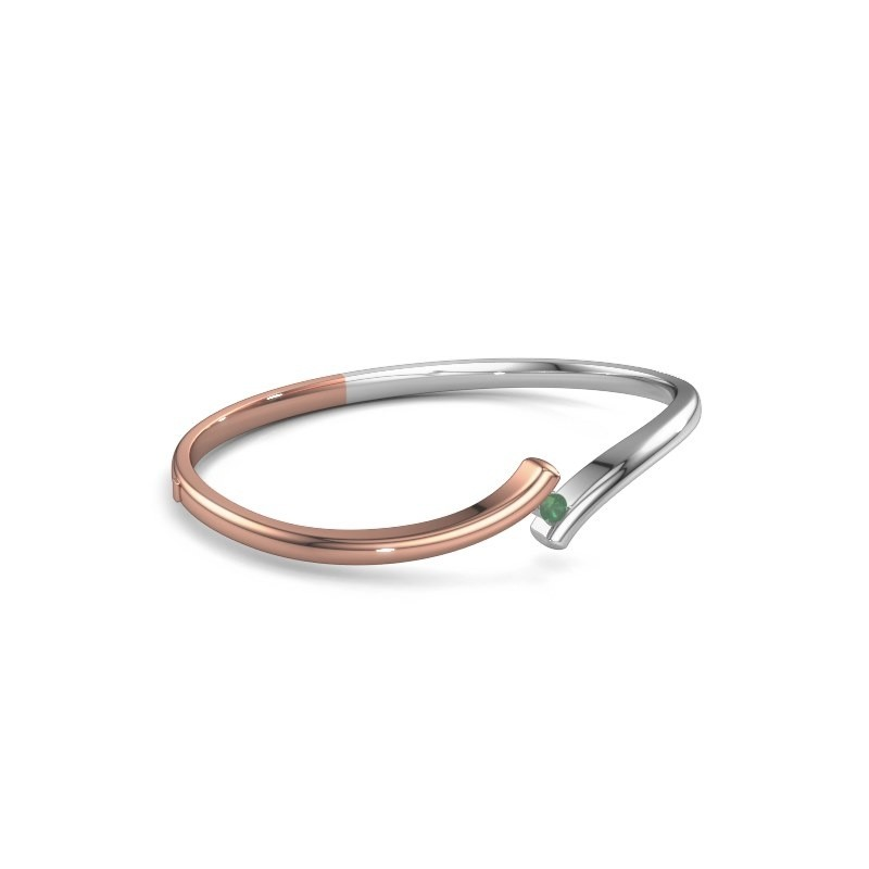Bangle Amy 585 rose gold emerald 3.4 mm