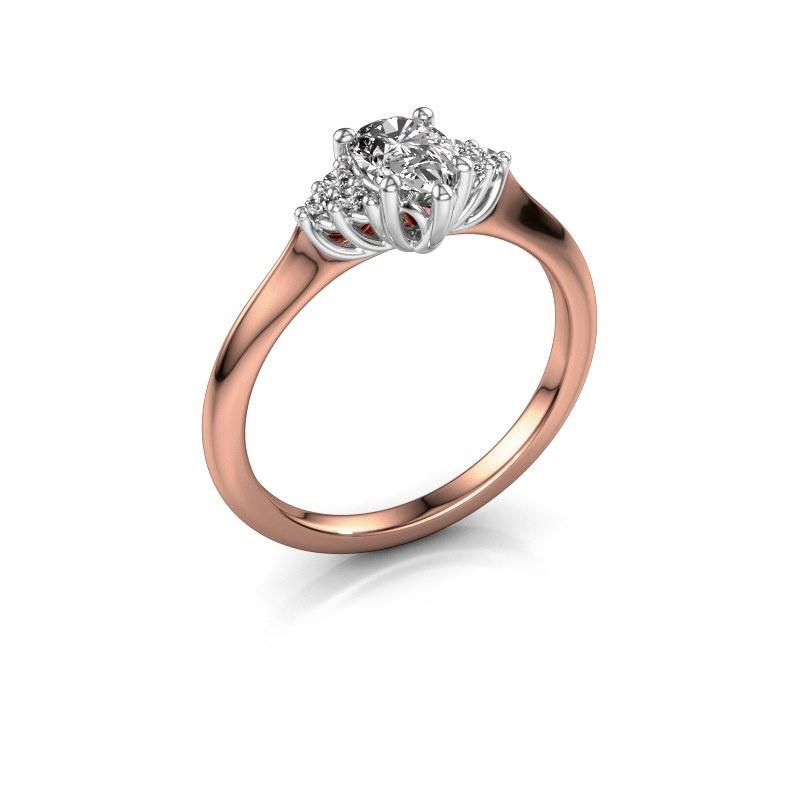 Verlobungsring Felipa per 585 Roségold Diamant 0.579 crt