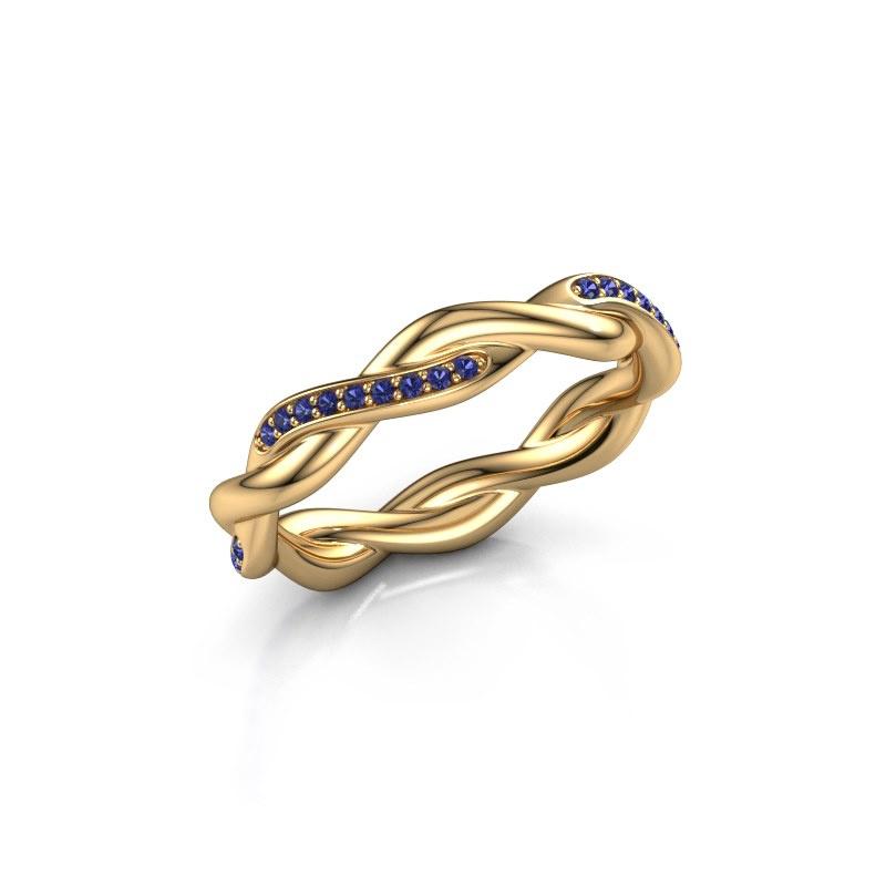 Vorsteckring Swing half 375 Gold Saphir 1 mm