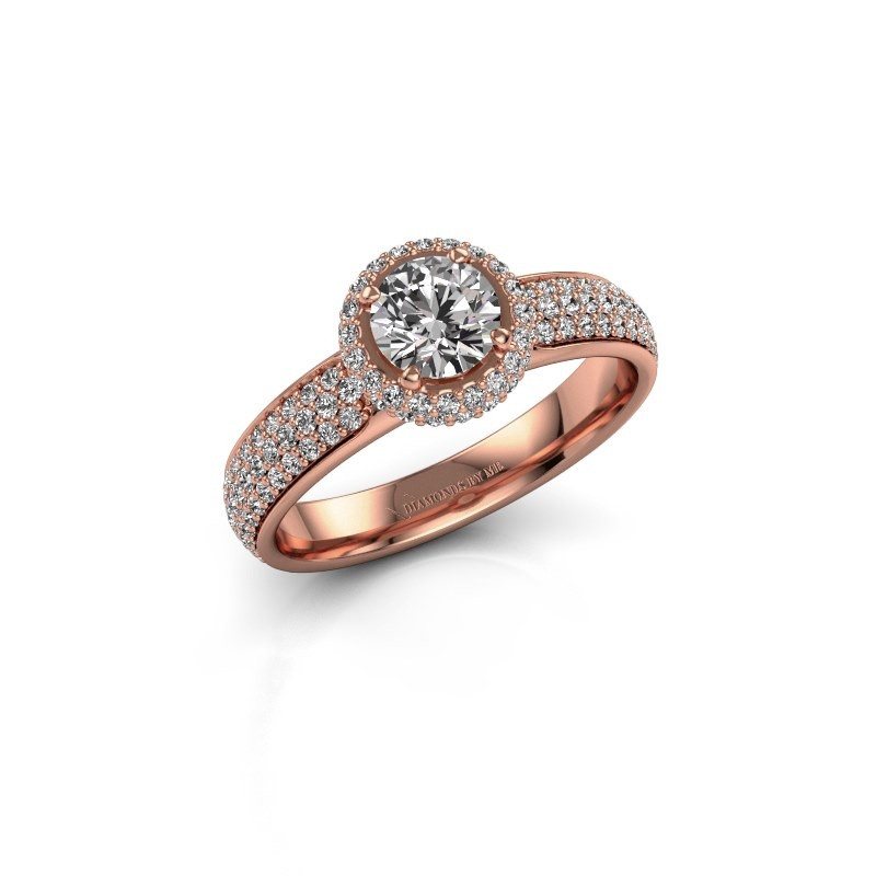 Verlovingsring Mildred 375 rosé goud diamant 1.311 crt