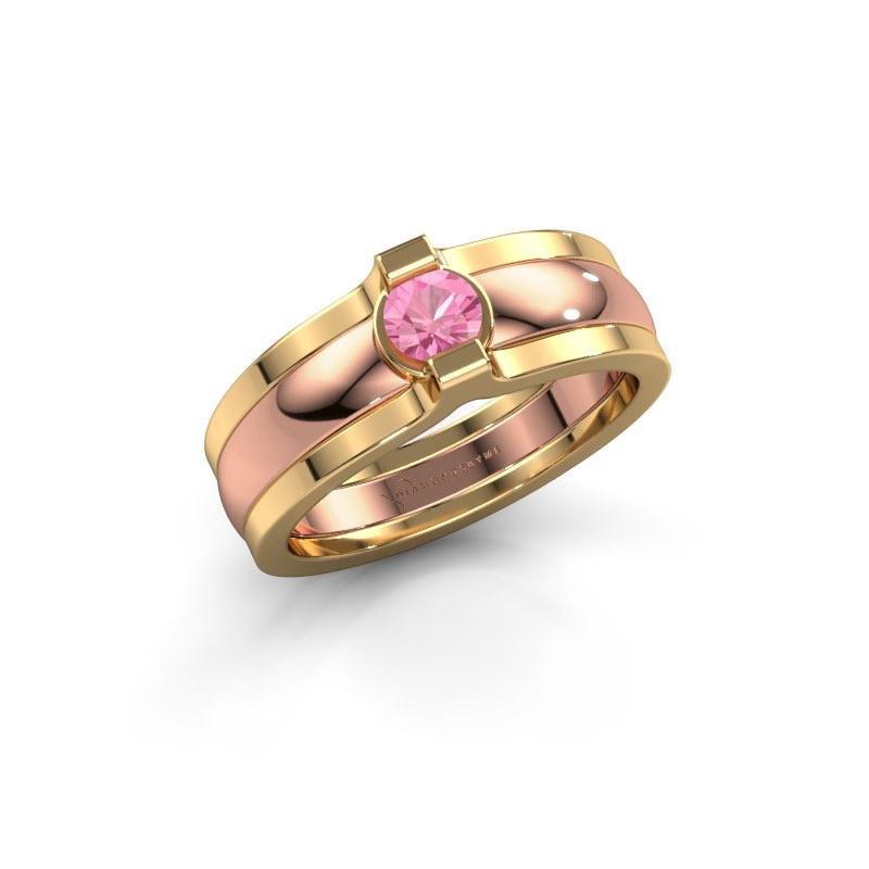 Ring Jade 585 Roségold Pink Saphir 4 mm