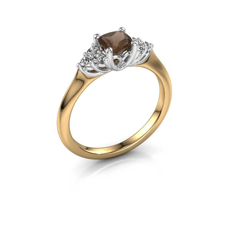 Verlovingsring Felipa CUS 585 goud rookkwarts 5 mm